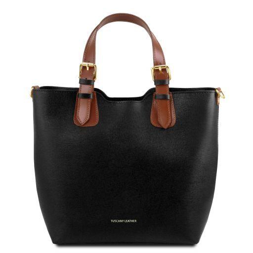 TL Bag Bolso shopping en piel Saffiano Negro TL141696