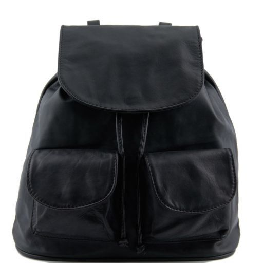 Seoul Рюкзак из мягкой кожи - Малый размер Черный TL90143