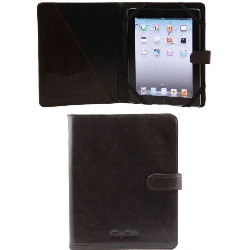 Porta iPad in pelle con bottone Testa di Moro TL141170