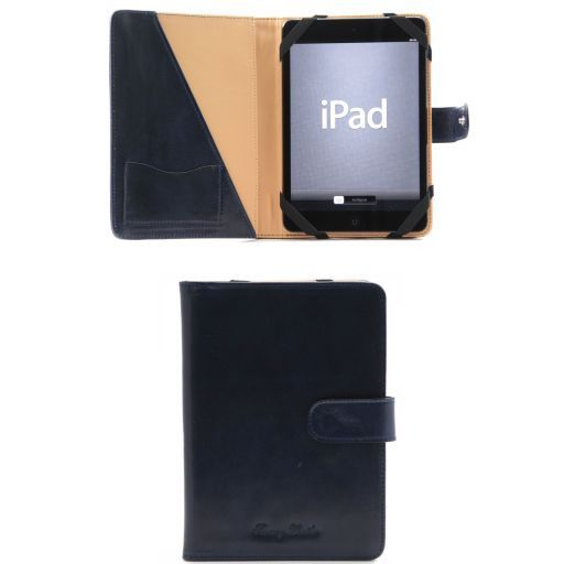 Porta iPad Mini 4 in pelle con bottone Blu TL141171