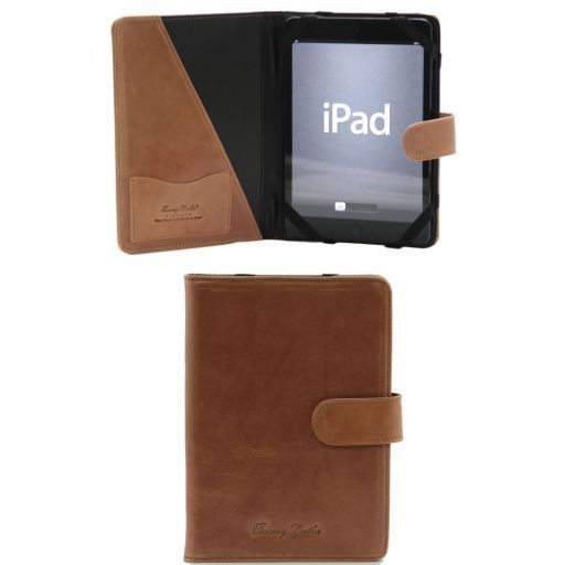 Кожаный чехол для iPad Mini 4 с застежкой на кнопке Мед TL141171