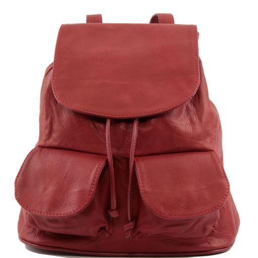 Seoul Zaino in pelle morbida - Misura piccola Rosso TL90143