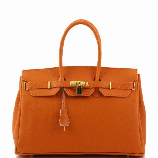TL Bag Borsa a mano media con accessori oro Arancio TL141174