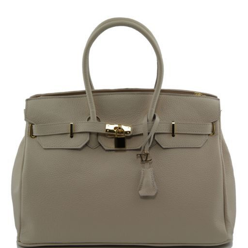 TL Bag Borsa a mano media con accessori oro Beige TL141174