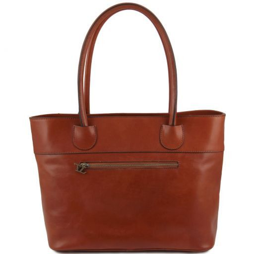 Elisa Borsa shopping in pelle Miele TL141176