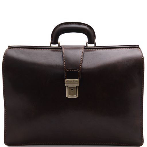 Canova Leather Doctor bag briefcase 3 compartments Dark Brown TL141186