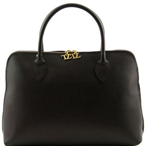 TL Bag Деловая женская сумка из кожи Саффьяно Черный TL141195