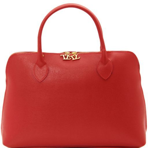 TL Bag Borsa business per donna in pelle Saffiano Rosso TL141195