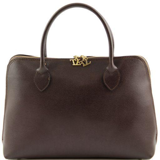 TL Bag Borsa business per donna in pelle Saffiano Testa di Moro TL141195