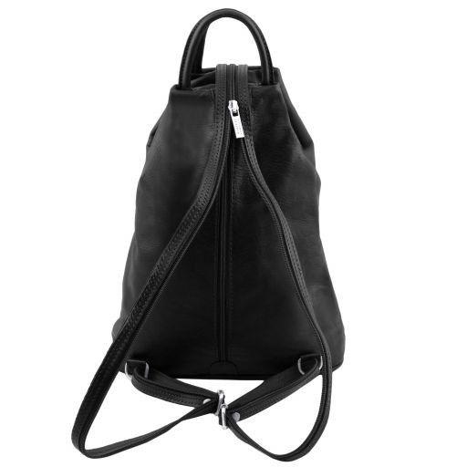Shanghai Leather backpack Black TL140963