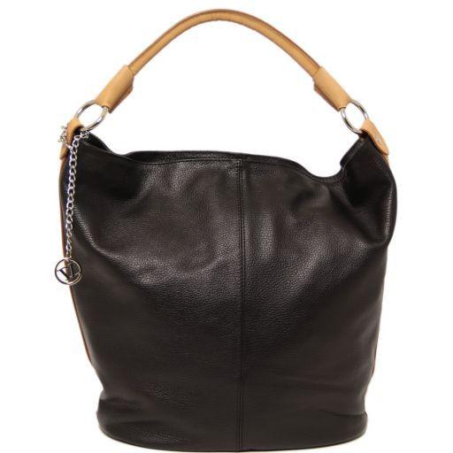 TL Bag Borsa secchiello da donna in pelle Nero TL141201