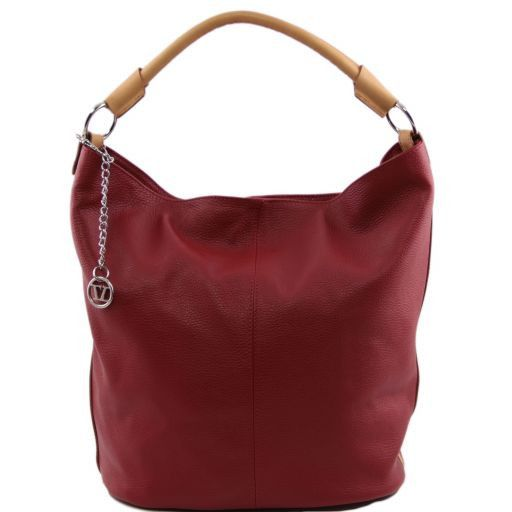 TL Bag Bolso secchiello en piel Rojo TL141201