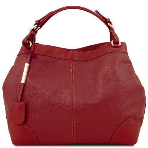 Ambrosia Borsa shopping in pelle morbida con tracolla Rosso TL141516