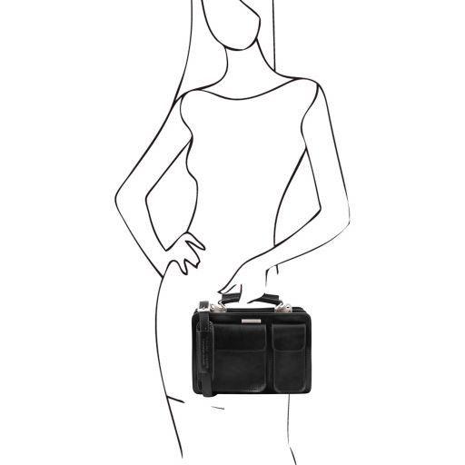 Tania Leather lady handbag Black TL141270