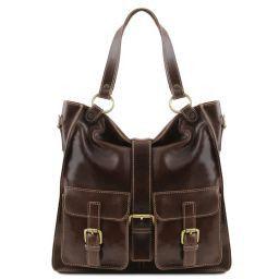Melissa Женская кожаная сумка Темно-коричневый TL140928