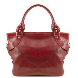 Ilenia Leather shoulder bag Red TL140899