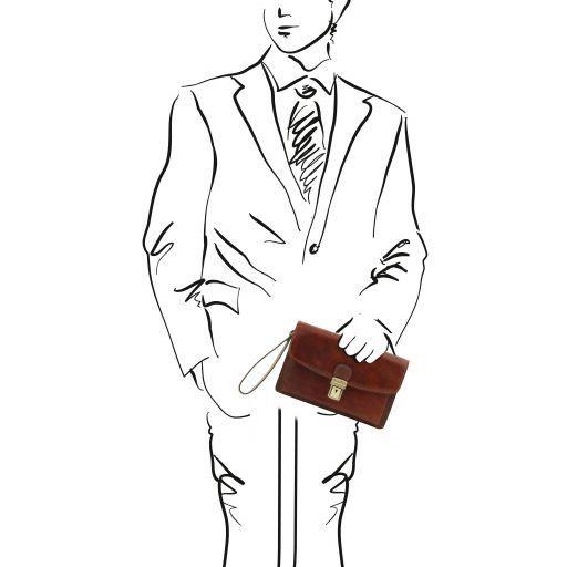Arthur Esclusivo borsello a mano in pelle Marrone TL141444