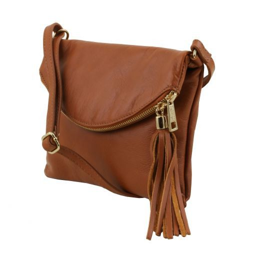 TL Young Bag Borsa a tracolla con nappa Cognac TL141153