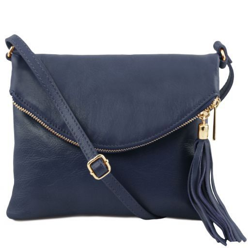 TL Young Bag Sac bandoulière avec pompon Bleu foncé TL141153