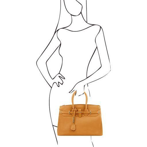 TL Bag Borsa a mano media con accessori oro Celeste TL141529