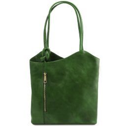 Patty Leather convertible bag Green TL141497