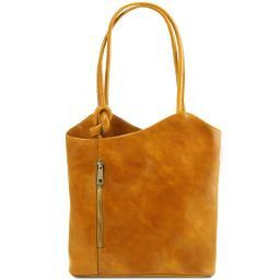 Patty Borsa donna in pelle convertibile a zaino Giallo TL141497