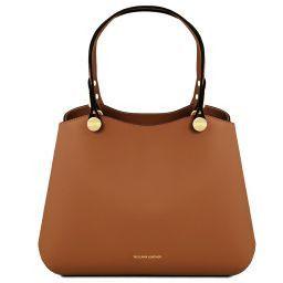 Anna Handtasche aus Leder Cognac TL141684