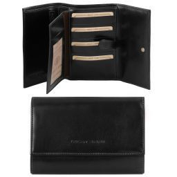 Exclusive leather wallet for women Black TL140796