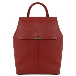 TL Bag Soft leather backpack for women Red TL141706