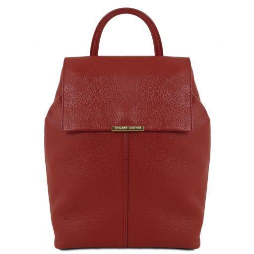 TL Bag Zaino donna in pelle morbida Rosso TL141706