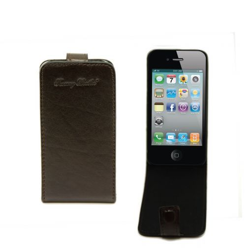 Cover iPhone4/4s in pelle Testa di Moro TL141212