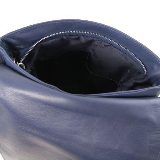Cesare Borsa a tracolla in pelle morbida Blu scuro TL141723