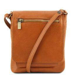 Sasha Unisex soft leather shoulder bag Cognac TL141510