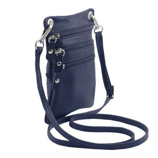 TL Bag Bolsillo unisex en piel suave Azul oscuro TL141368