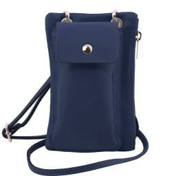 TL Bag Soft Leather cellphone holder mini cross bag Dark Blue TL141423