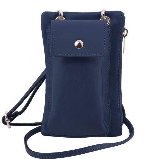 TL Bag Bolsillo Porta móvil en piel suave Azul oscuro TL141423
