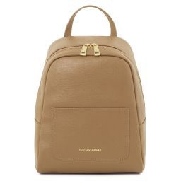 TL Bag Small Saffiano leather backpack for women Caramel TL141701