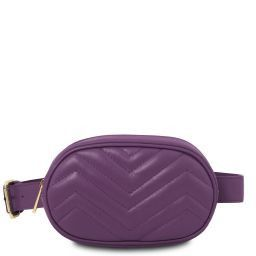 TL Bag Soft leather fanny pack Purple TL141699