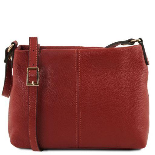 TL Bag Soft leather shoulder bag Red TL141720