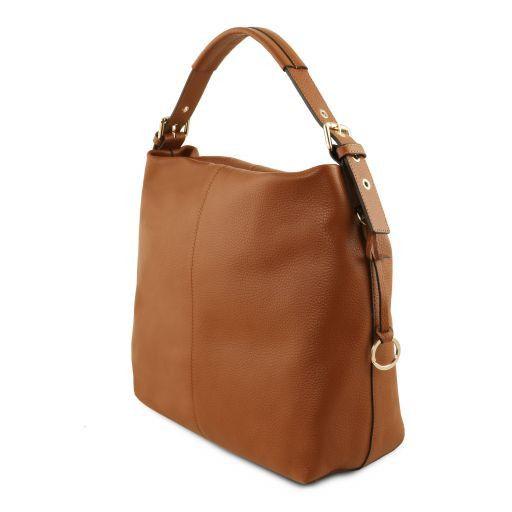 TL Bag Soft leather hobo bag Cognac TL141719