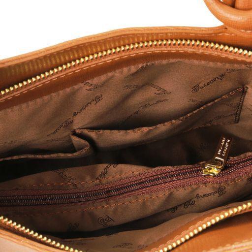 Patty Schultertasche aus Saffiano Leder Cognac TL141455