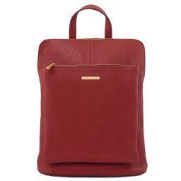 TL Bag Mochila para mujer en piel suave Rojo TL141682