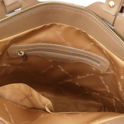 TL Bag Borsa shopping in pelle Saffiano Caramello TL141696