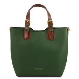 TL Bag Borsa a mano in pelle Saffiano Verde TL141696