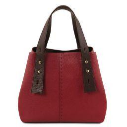 TL Bag Shopper Tasche aus Leder Rot TL141730