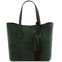 TL Bag Borsa shopper in pelle scamosciata Verde TL141639