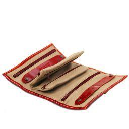 Esclusivo portagioie in pelle Rosso TL141621