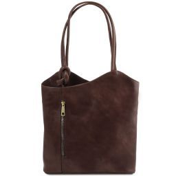 Patty Leather convertible bag Dark Brown TL141497