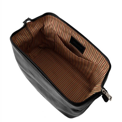 Smarty Leather toilet bag - Small size Black TL141220