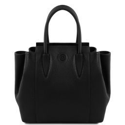 Tulipan Leather handbag Black TL141727